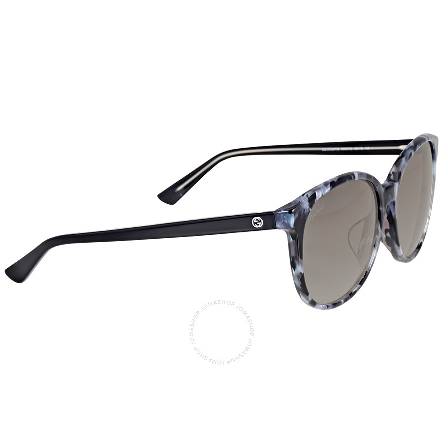 ed6e8a6a81c Gucci Asian Fit Gray Havana Sunglasses - Gucci - Sunglasses - Jomashop