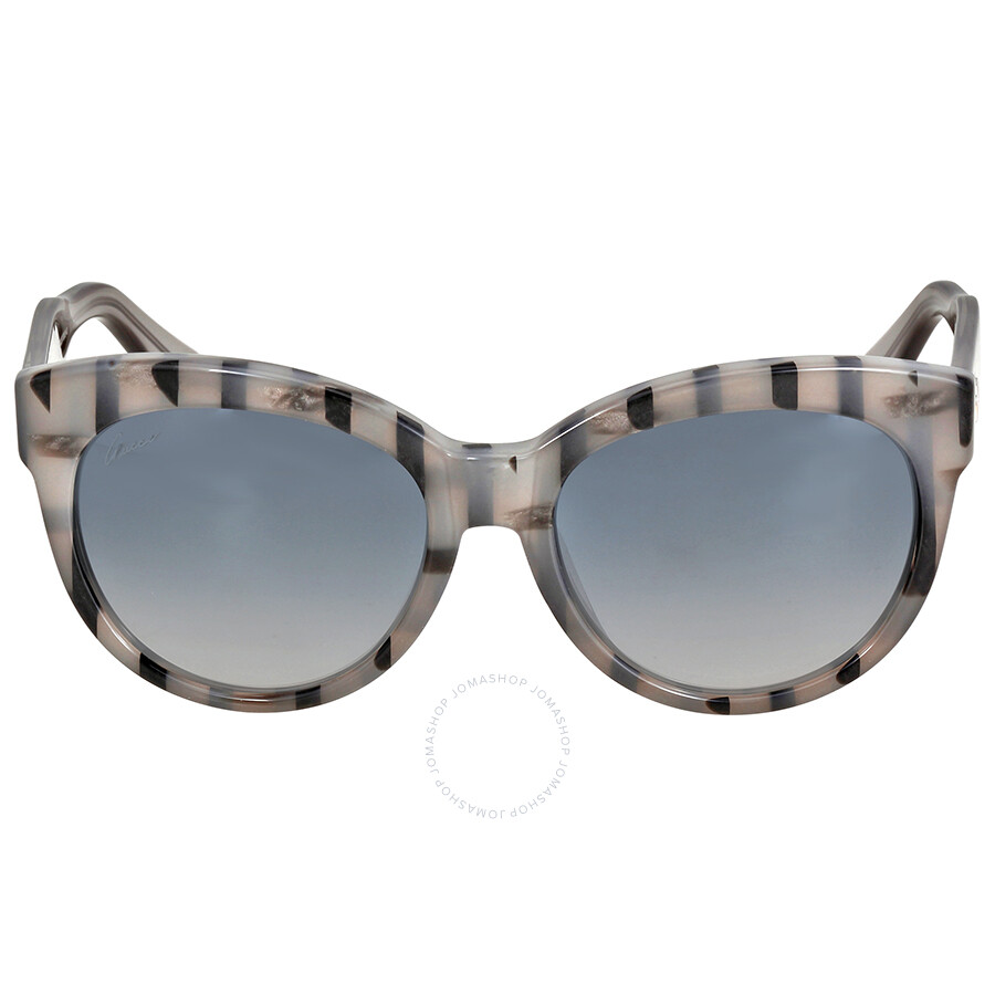 008cdd202c1a Gucci Asian Fit Gray Striped Sunglasses - Gucci - Sunglasses - Jomashop