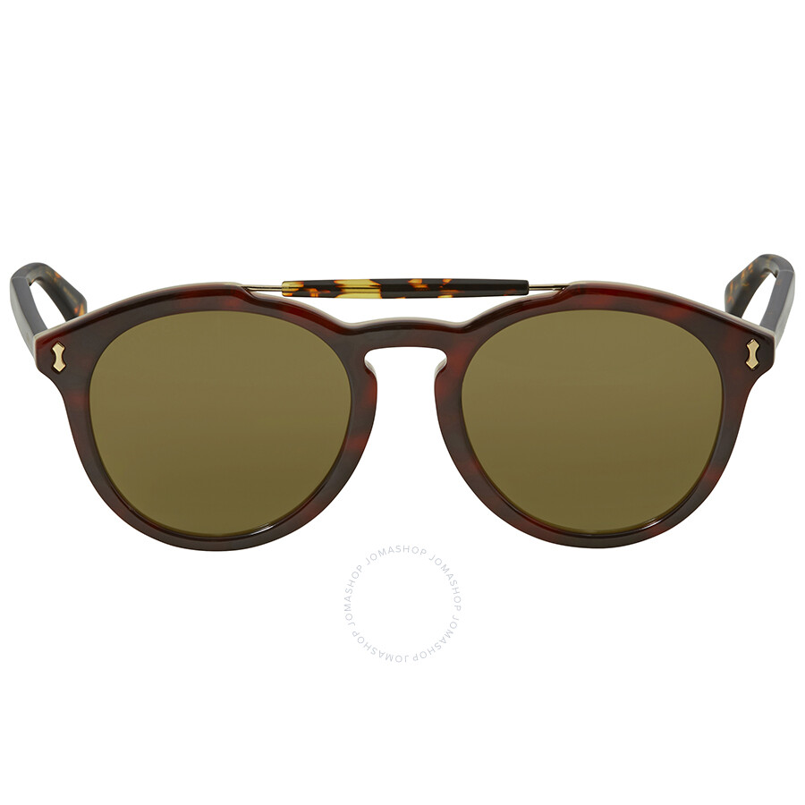 ff251256b2d Gucci Asian Fit Green Round Men s Sunglasses GG0124SA 003 52 - Gucci ...