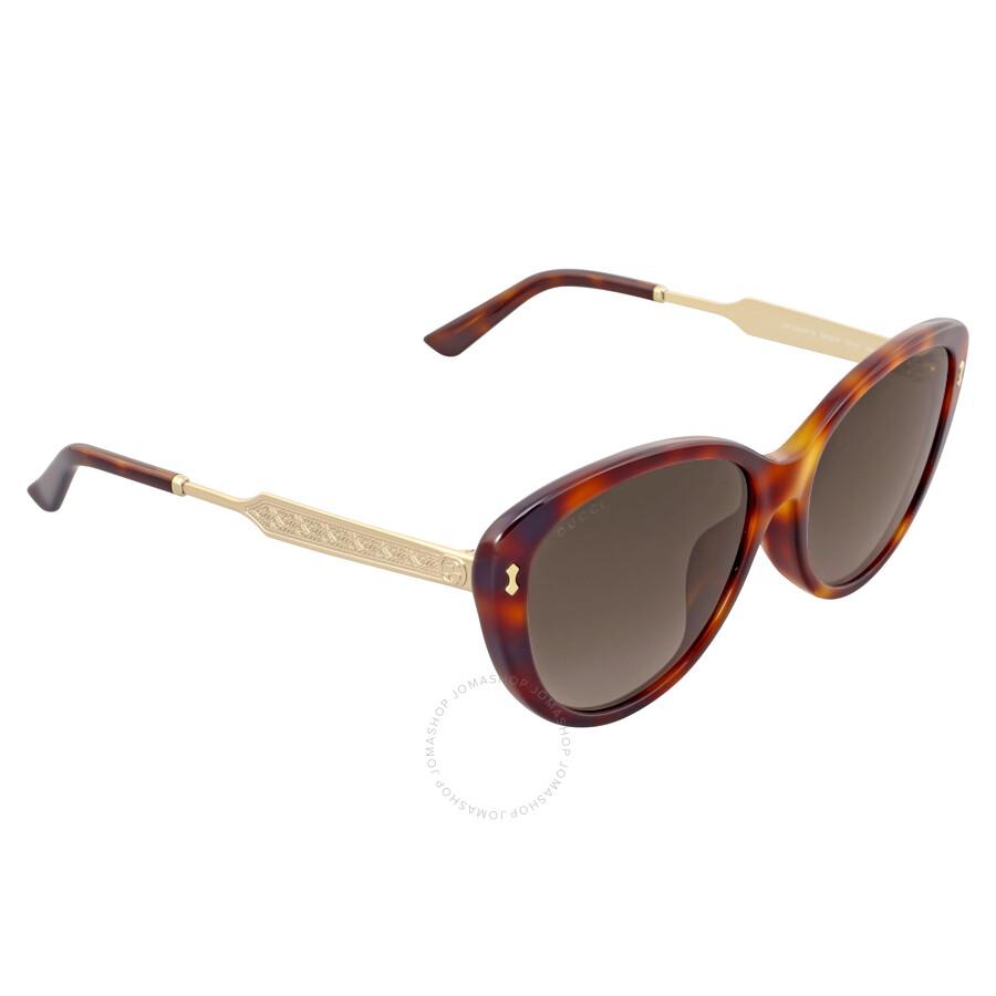 3f531fb16d7 ... Gucci Asian Fit Havana Gold Cat Eye Sunglasses GG3839 F SCRXHA ...