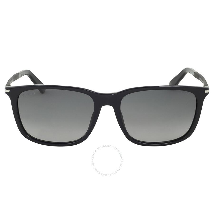 032d187915e Gucci Asian Fit Polarized Black Sunglasses - Gucci - Sunglasses ...