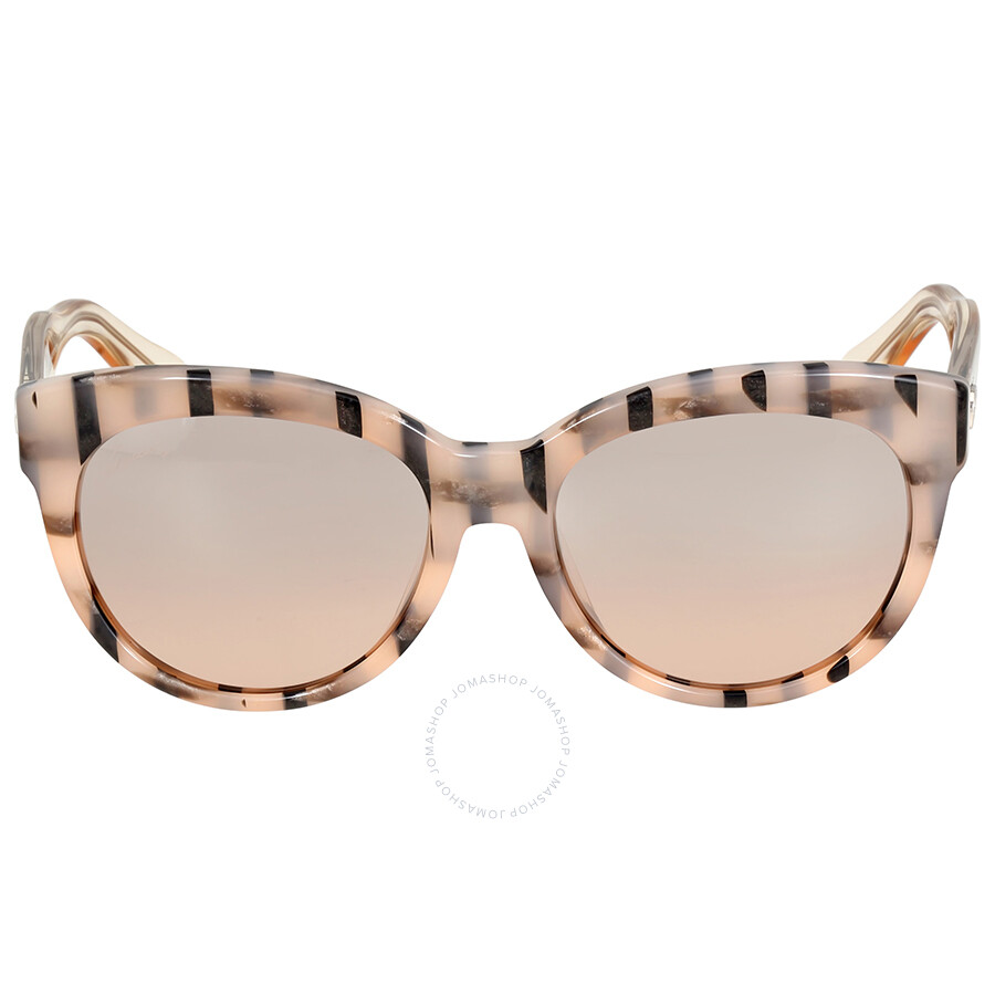 99bac74a92f Gucci Asian Fit Rose Gold Striped Cat Eye Sunglasses Item No.  GG3757 F SYV1AK