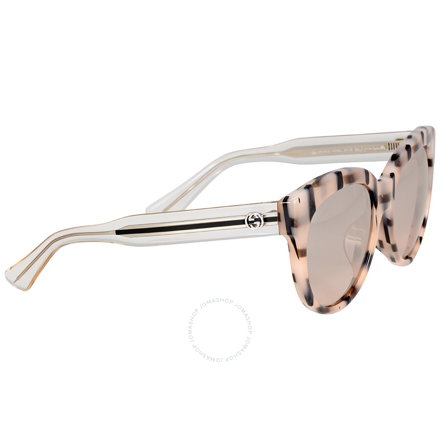 bfcaf1ab9238 Gucci Asian Fit Rose Gold Striped Cat Eye Sunglasses - Gucci ...