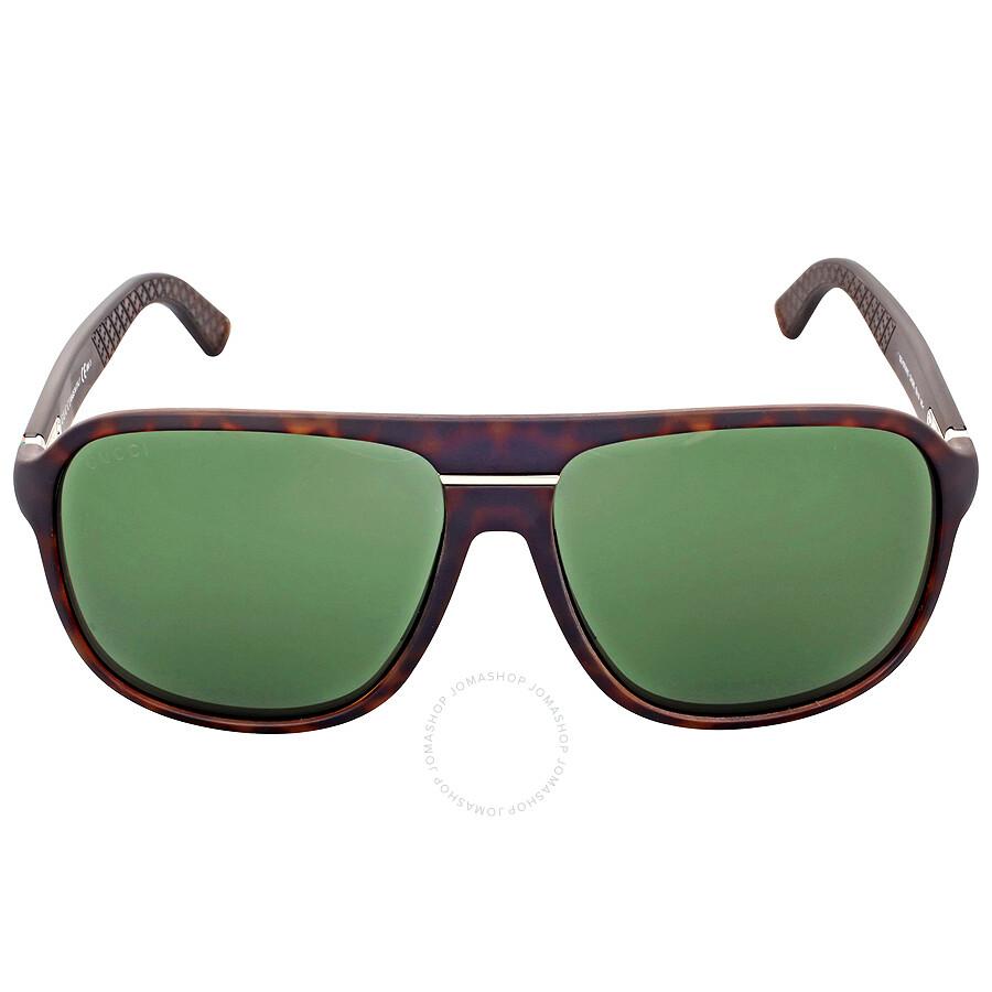 6f34ddc5624 Gucci Aviator Green Lens Men s Sunglasses GG 1076   QXG 85 - Gucci ...