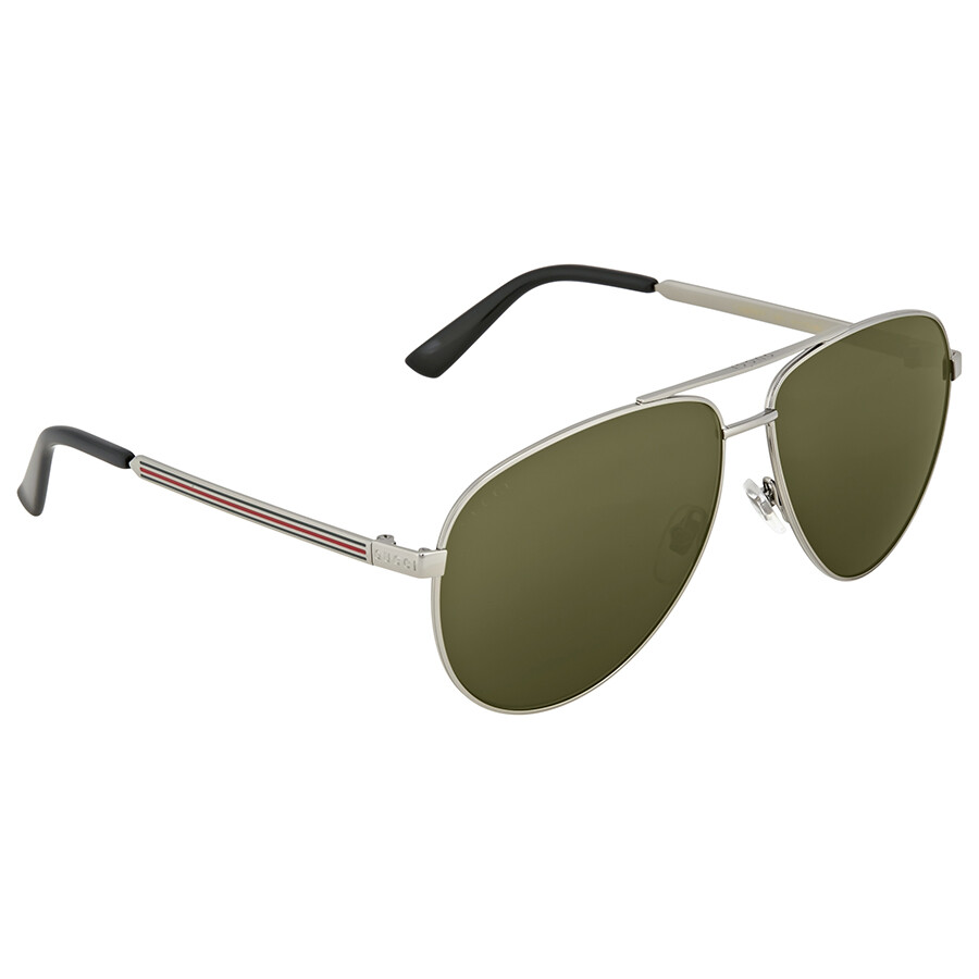 0fa5a48ab Gucci Aviator Green Sunglasses - Gucci - Sunglasses - Jomashop