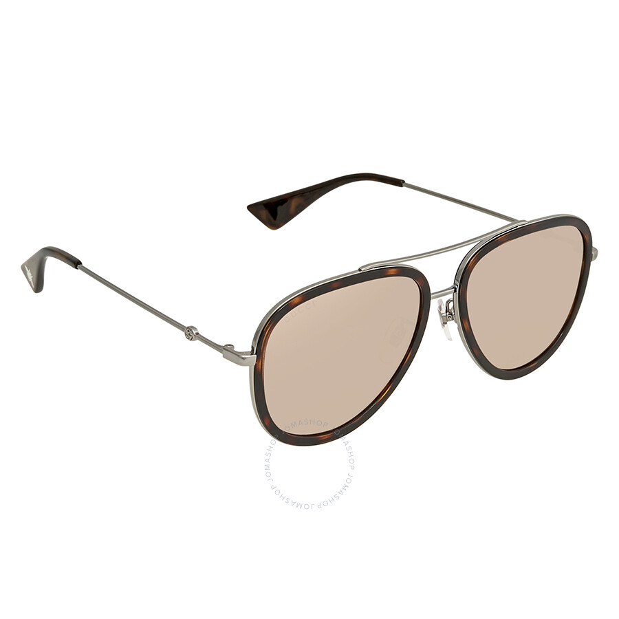 edd3665094 Gucci Aviator Ladies Sunglasses GG0062S 009 57 - Gucci - Sunglasses ...