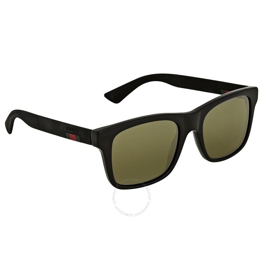 7afdc3479cb5d Gucci Black Acetate Square Sunglasses - Gucci - Sunglasses - Jomashop