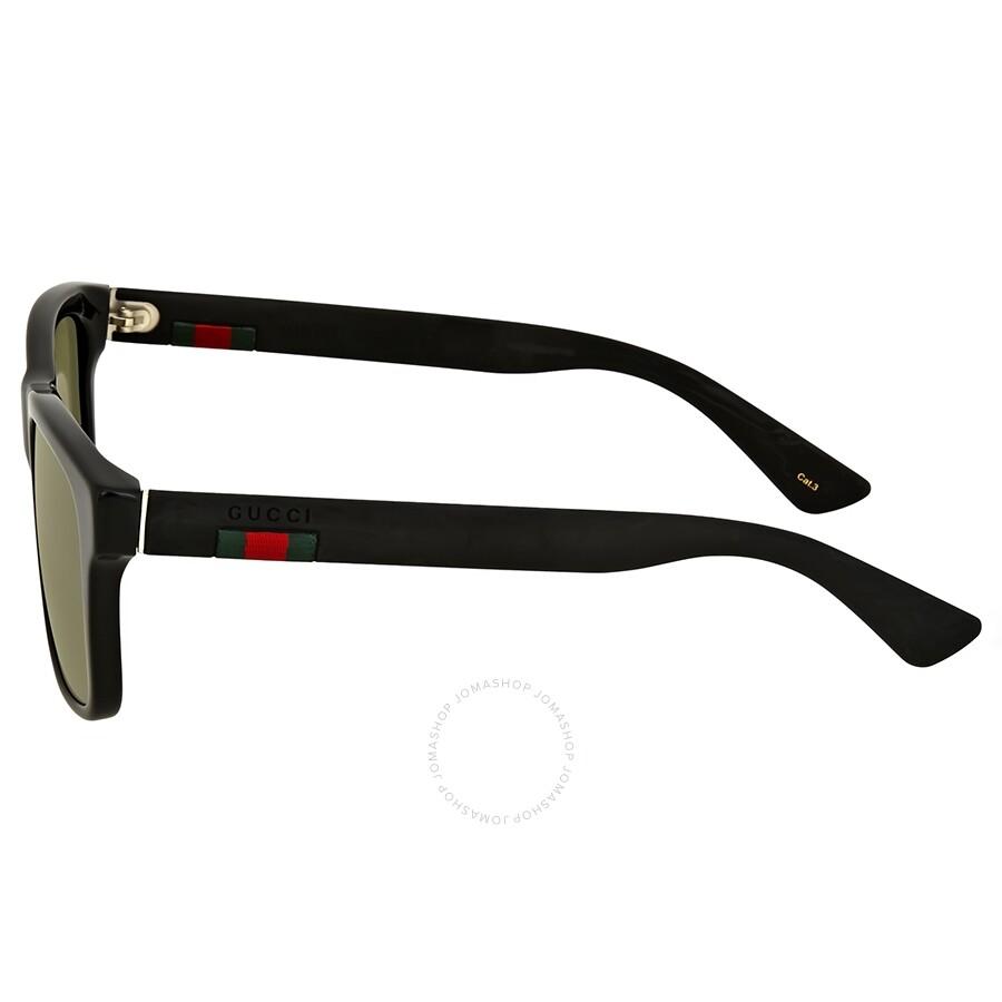 3de5bbfc3e5 Gucci Black Acetate Square Sunglasses - Gucci - Sunglasses - Jomashop