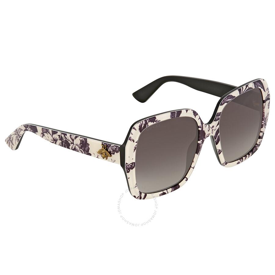 dcd4d76b2e5 Gucci Black and Pink Square Sunglasses - Gucci - Sunglasses - Jomashop