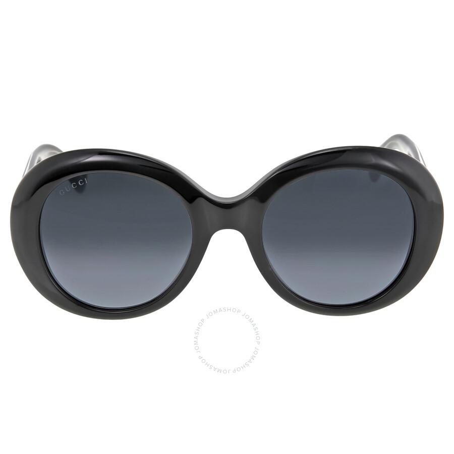 8298762ced9b3 Gucci Black Crystal Round Frame Ladies Sunglasses GG3815 S Y6C9O ...
