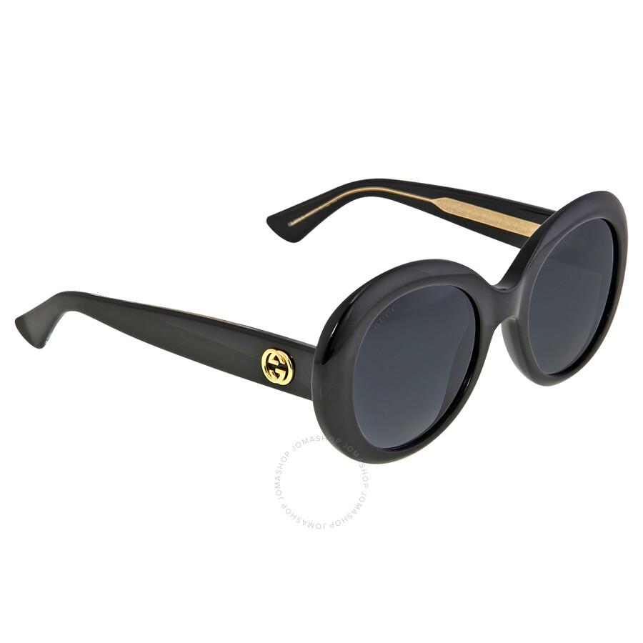 9d6bdb687c5 ... Gucci Black Crystal Round Frame Ladies Sunglasses GG3815 S Y6C9O ...