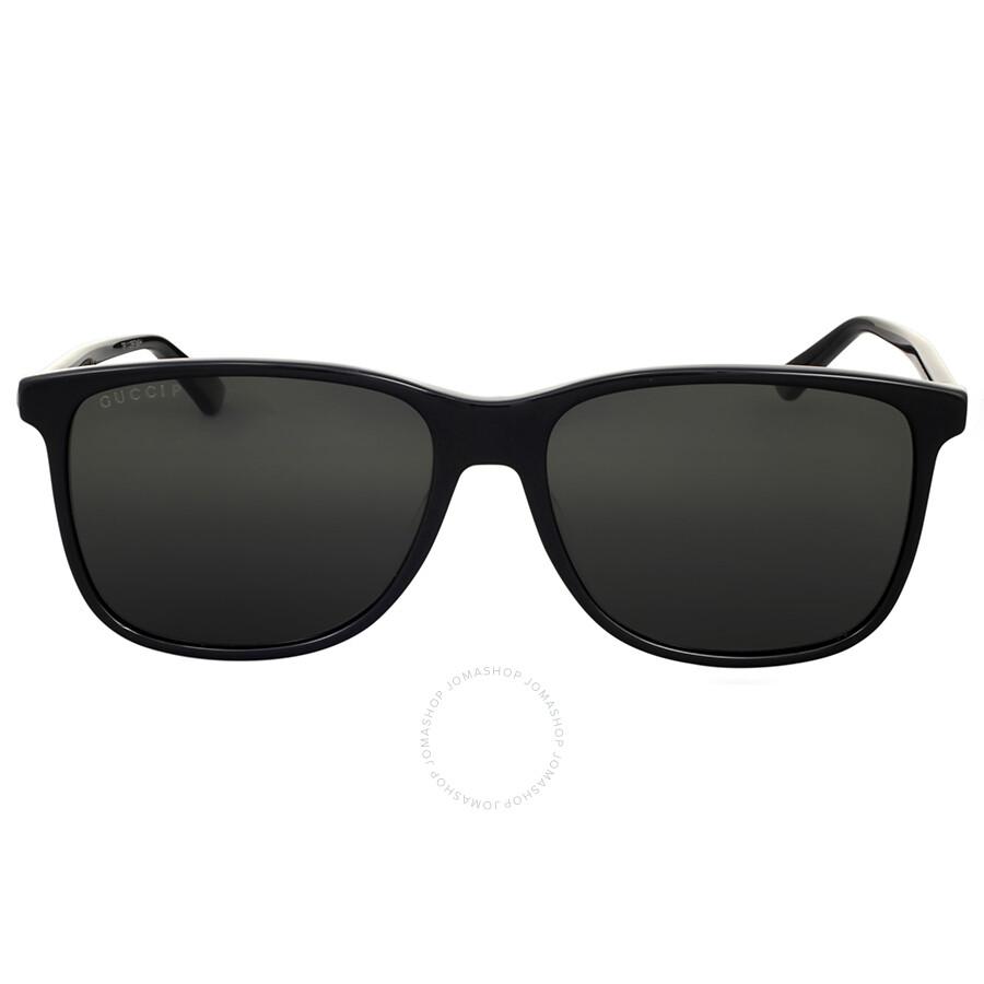 5ce19c03aaaec Gucci Black Square Plastic Sunglasses - Gucci - Sunglasses - Jomashop