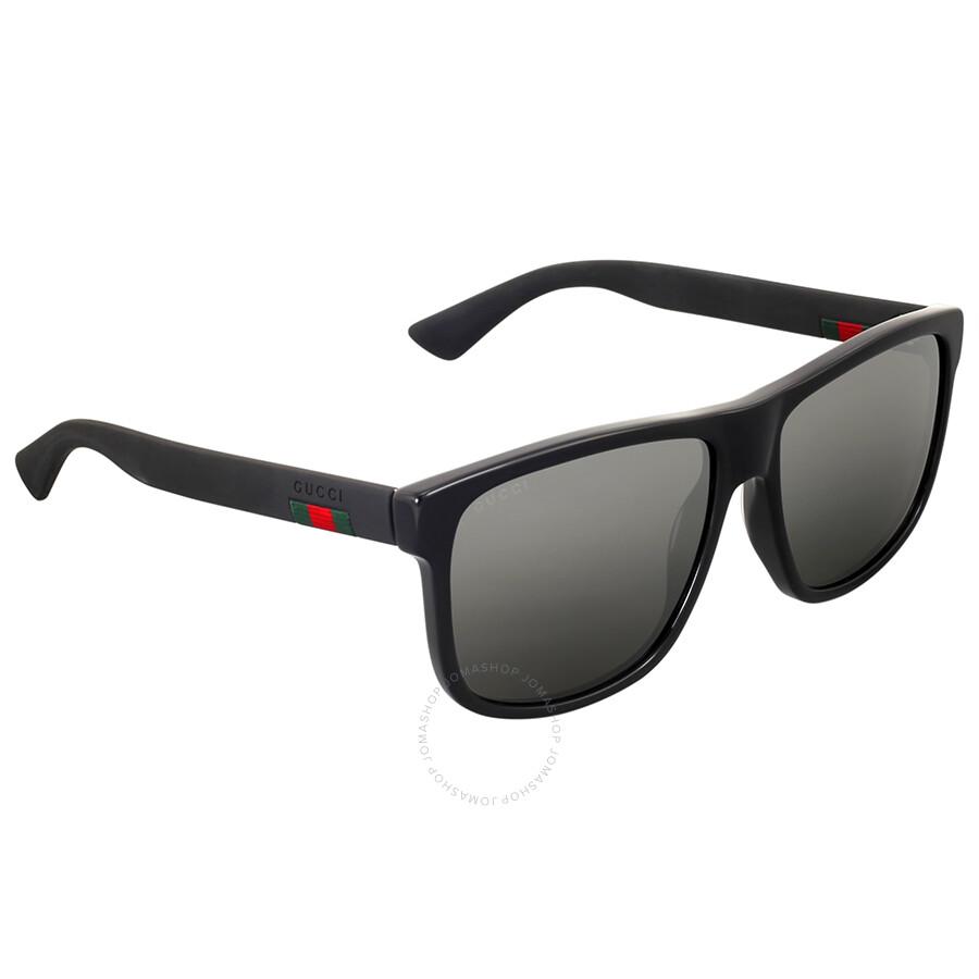 533d34f0e5 Gucci Black Square Sunglasses - Gucci - Sunglasses - Jomashop
