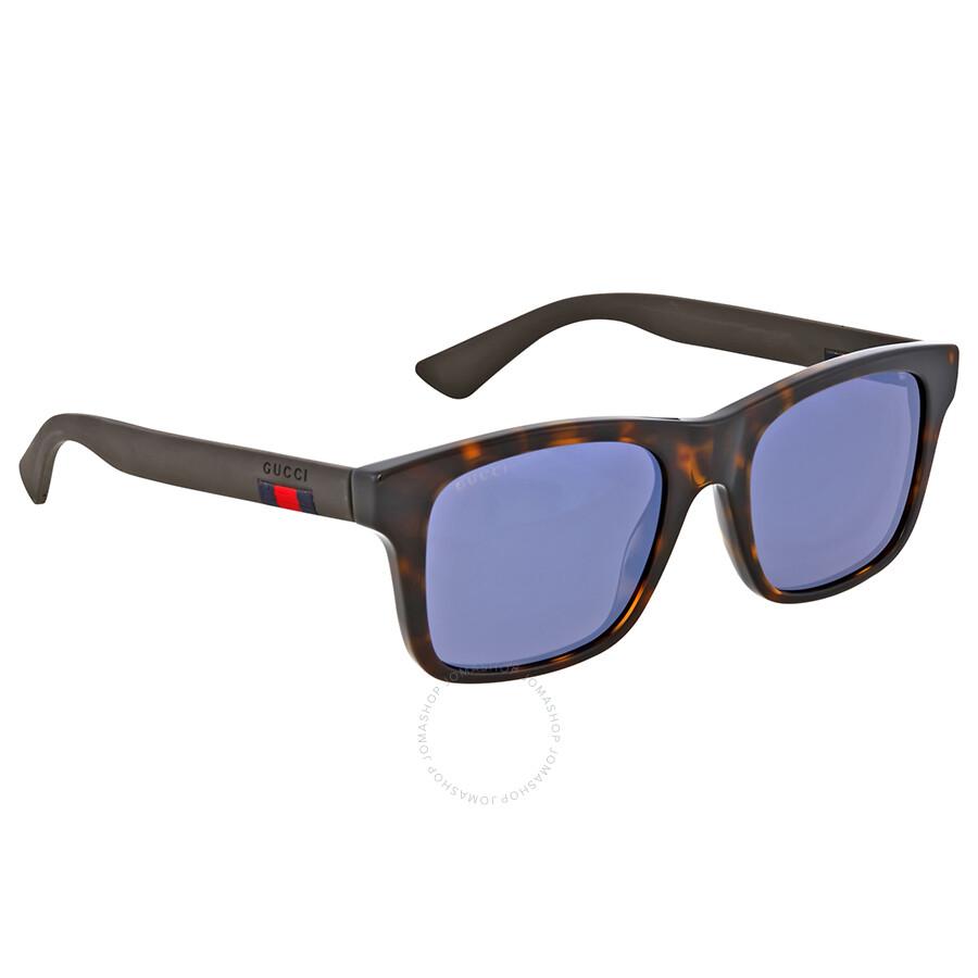 ca953981ebb Gucci Blue Mirror Plastic Sunglasses - Gucci - Sunglasses - Jomashop