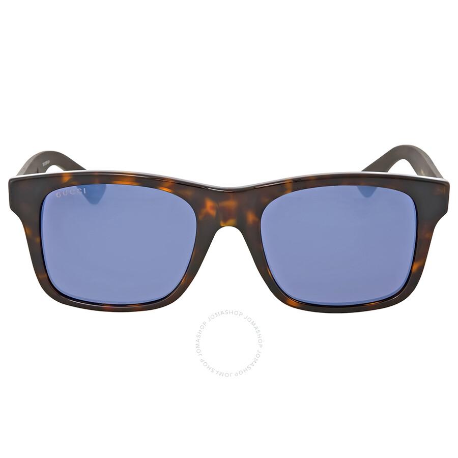 f78a4a9456 Gucci Blue Mirror Plastic Sunglasses Gucci Blue Mirror Plastic Sunglasses  ...