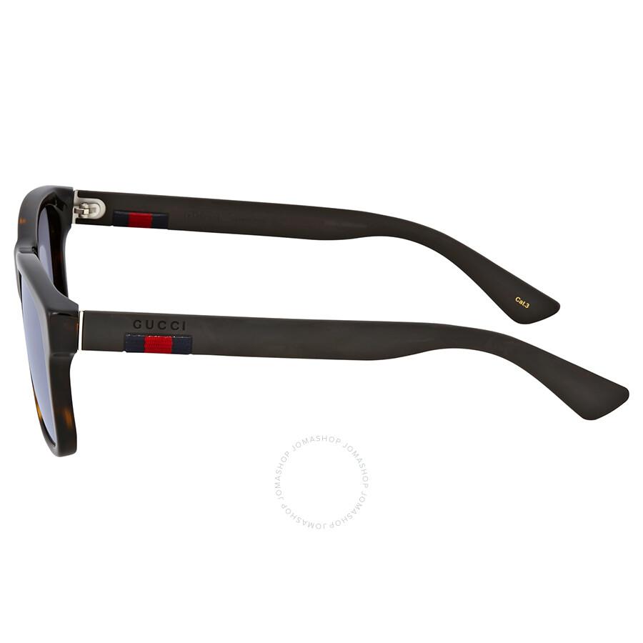 c2e0ce5643 Gucci Blue Mirror Plastic Sunglasses - Gucci - Sunglasses - Jomashop