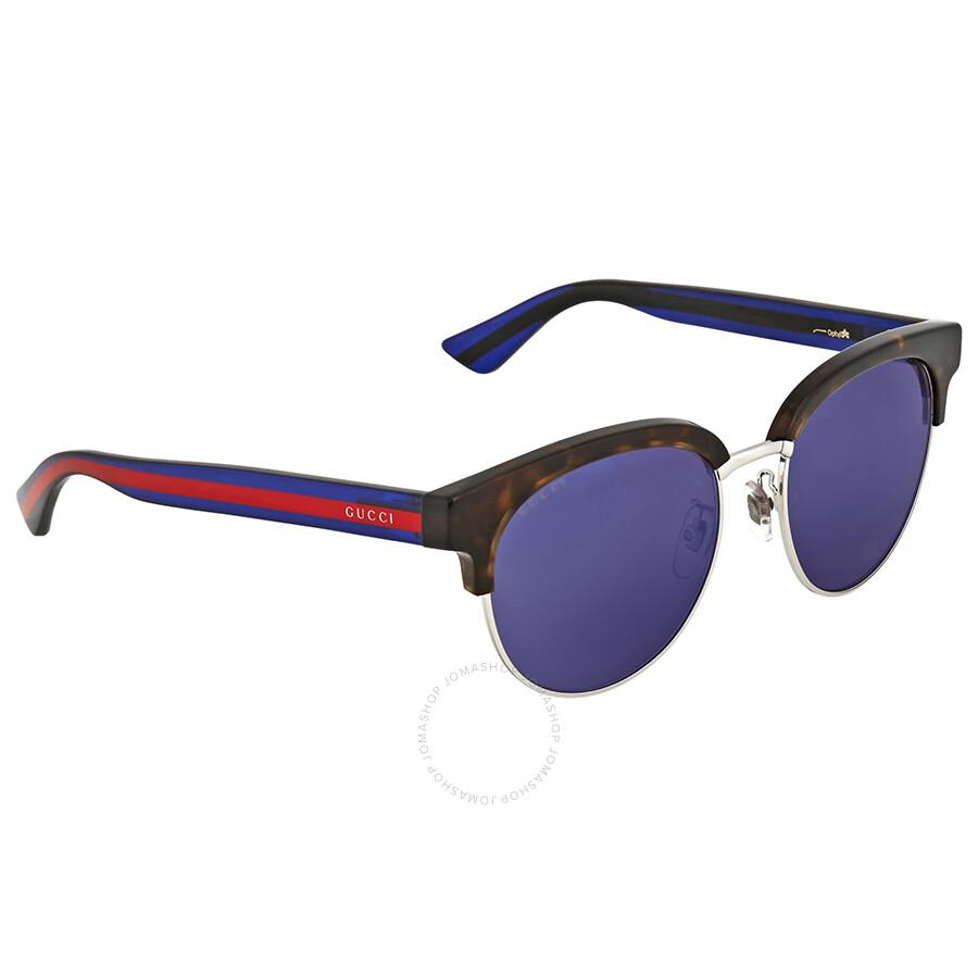 645fdcae2f4 Gucci Blue Mirror Sunglasses - Gucci - Sunglasses - Jomashop