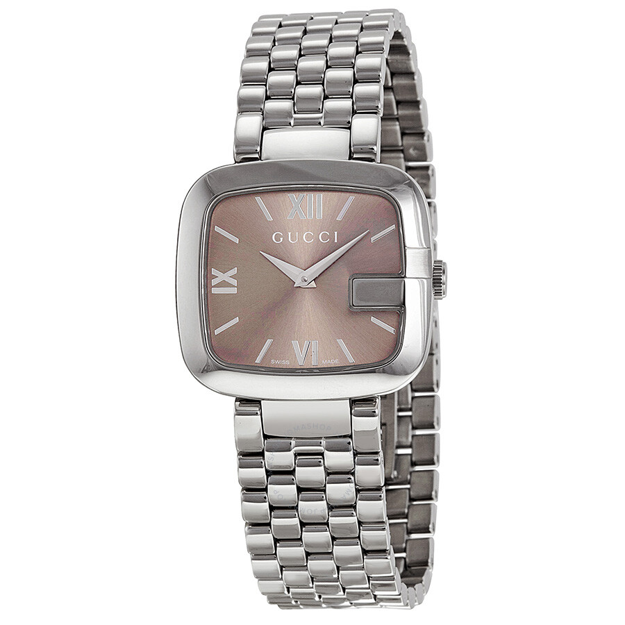 aa64fdaa86c Gucci Brown Dial Stainless Steel Ladies Watch YA125410 - G-Gucci ...