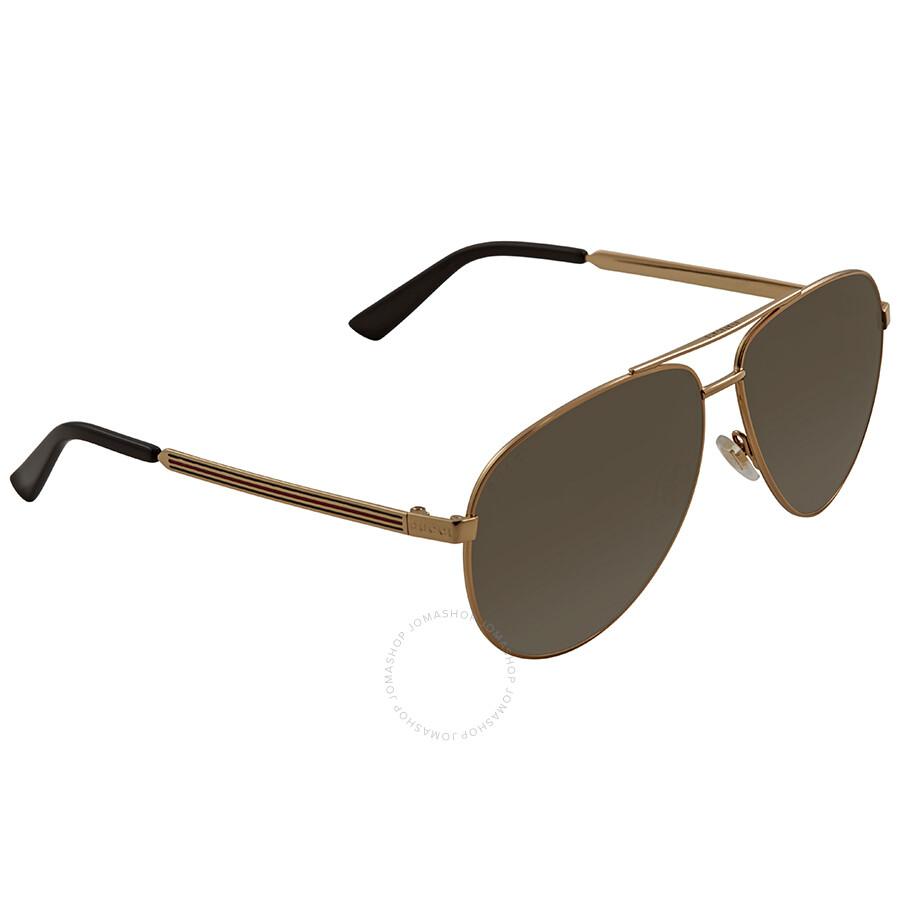 e8ef619bb14 Gucci Brown Gradient Aviator Sunglasses GCGG0137S 001 61 - Gucci ...