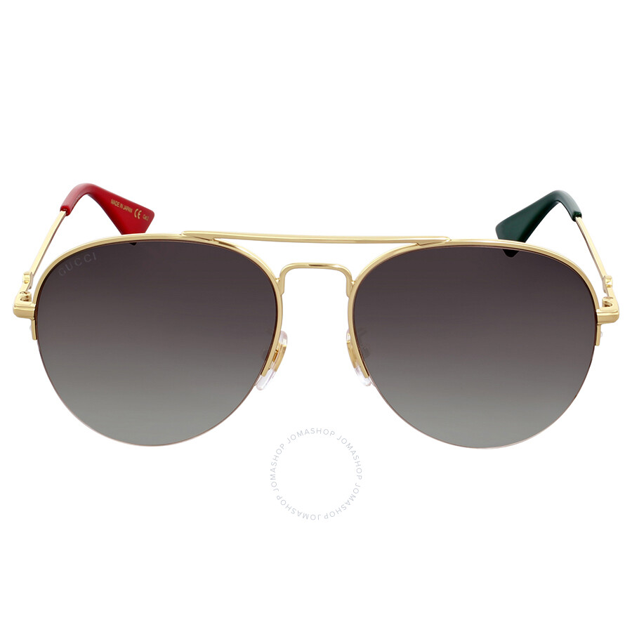 a994e33cb1c Gucci Brown Gradient Aviator Sunglasses - Gucci - Sunglasses - Jomashop
