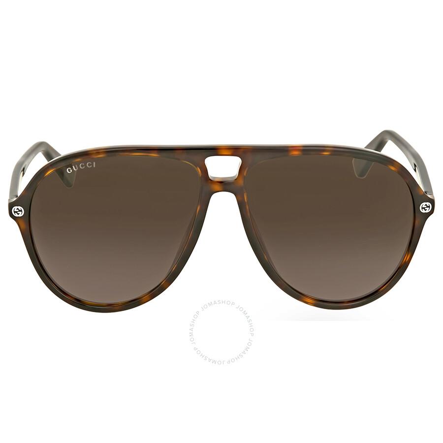 ae209b663ae2c Gucci Brown Gradient Aviator Sunglasses - Gucci - Sunglasses - Jomashop