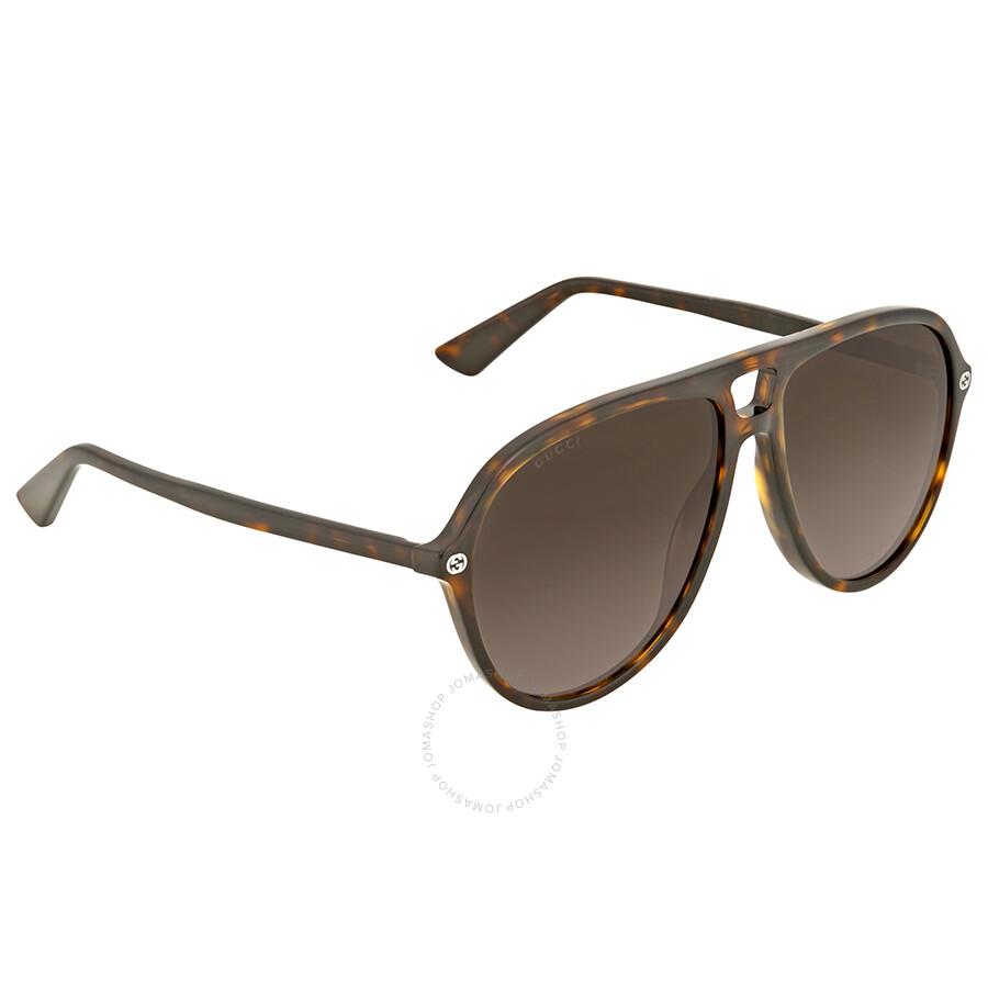 6a2d83f59b3 Gucci Brown Gradient Aviator Sunglasses Gucci Brown Gradient Aviator  Sunglasses ...