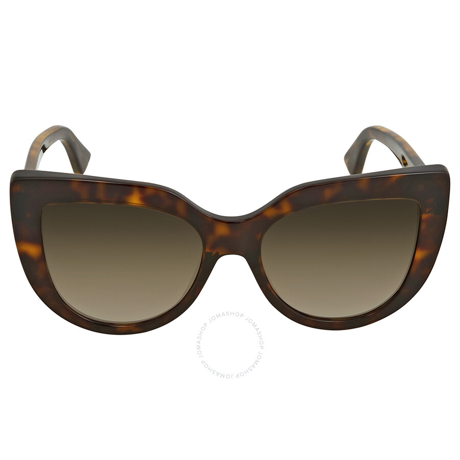 61f0ec8a86490 Gucci Brown Gradient Cat Eye Sunglasses GG0164S 002 53 - Gucci ...