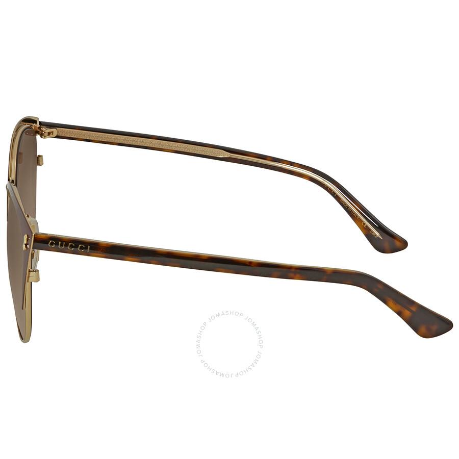 ef54545af2 Gucci Brown Gradient Cat Eye Sunglasses GG0197SK 005 58 - Gucci ...