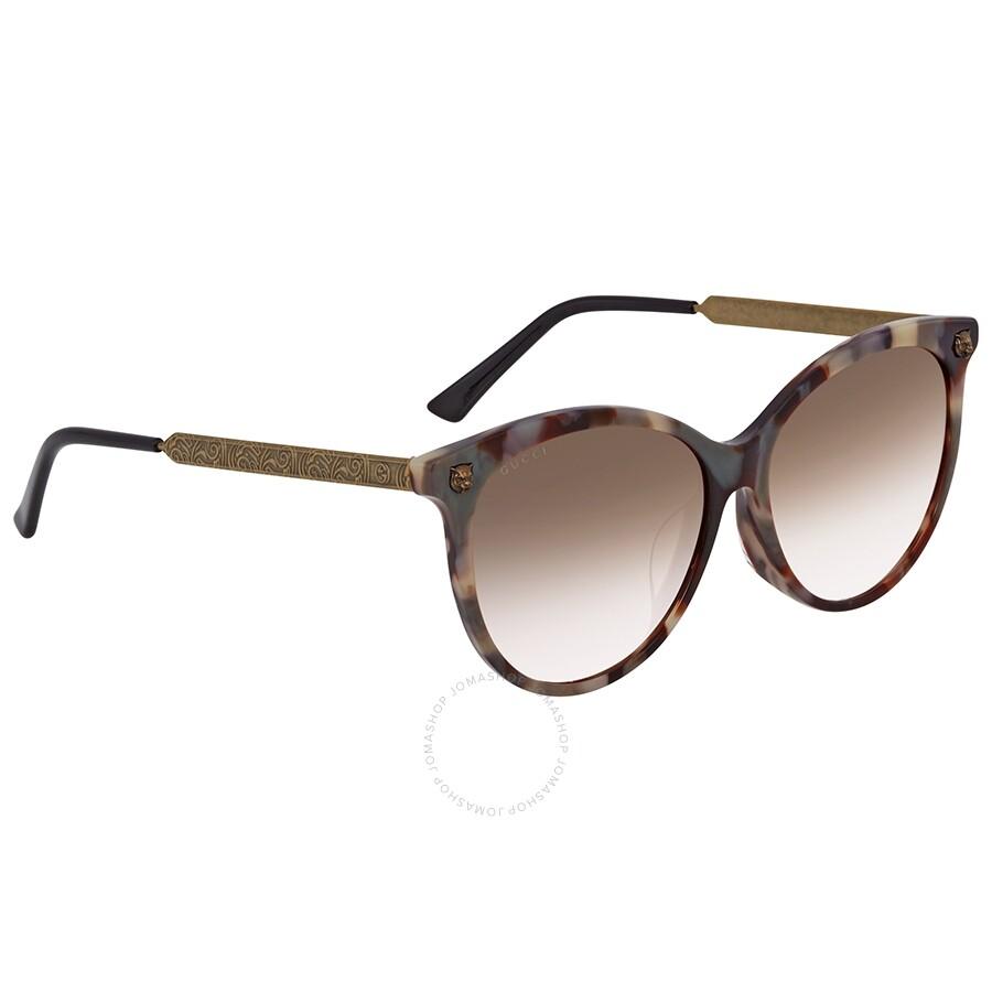 bde4969dd4 Gucci Brown Gradient Cat Eye Sunglasses GG0223SK-003 57 - Gucci ...