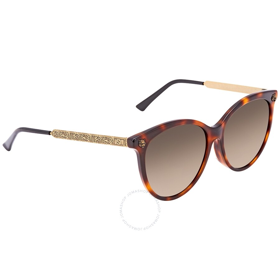 bd510d17e53 Gucci Brown Gradient Cat Eye Sunglasses GG0223SK-005 57 - Gucci ...