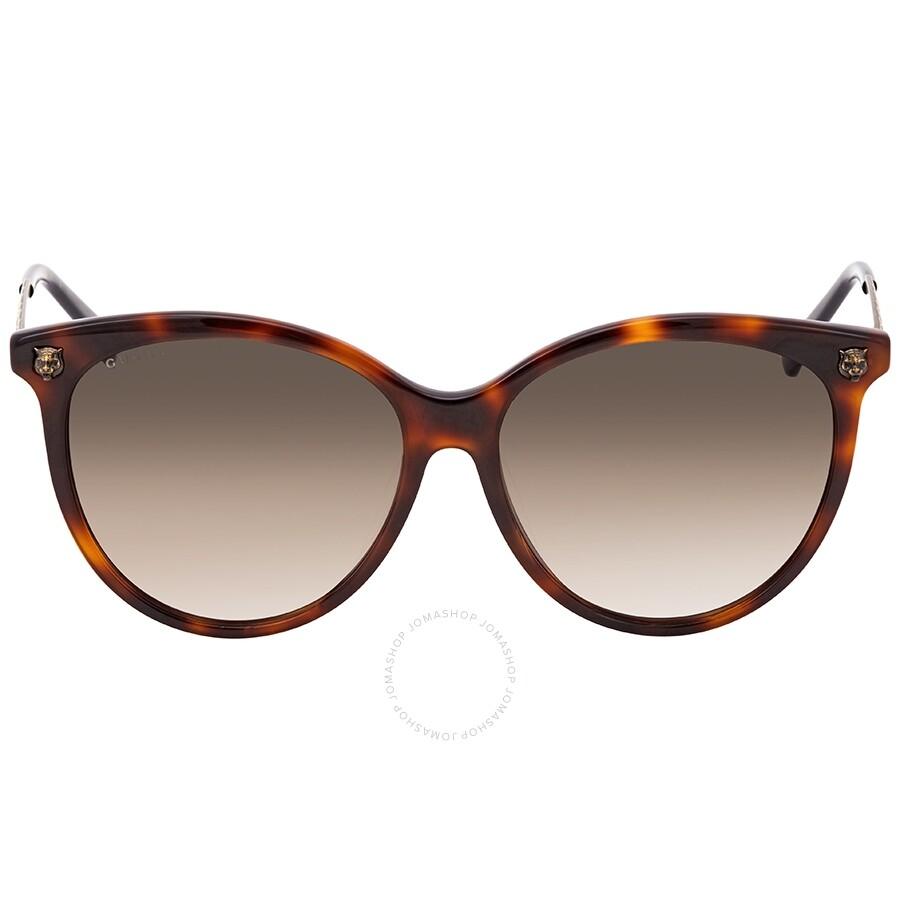576f3f35c2 Gucci Brown Gradient Cat Eye Sunglasses GG0223SK-005 57 - Gucci ...