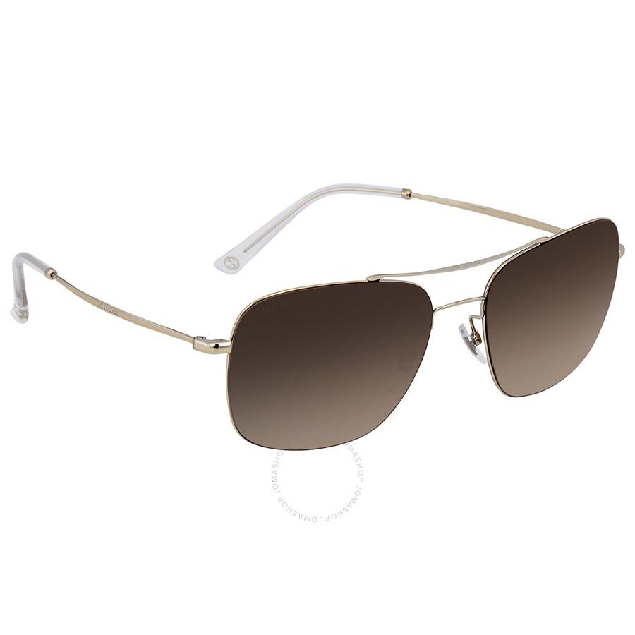 baccf87e04f Gucci Brown Gradient Rectangular Sunglasses GG0503S 001 - Gucci ...
