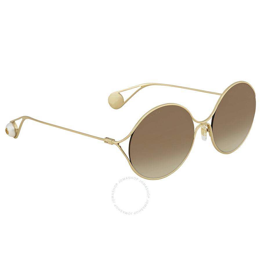 a6ecdb83153 Gucci Brown Gradient Round Sunglasses GG0253S-002 58 - Gucci ...