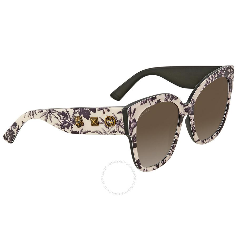 4683b8a8fc4 Gucci Brown Gradient Square Sunglasses GG0059S 004 55 - Gucci ...