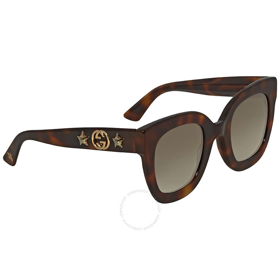 333ba38711 Gucci Brown Gradient Square Sunglasses GG0208S 003 49 - Gucci ...