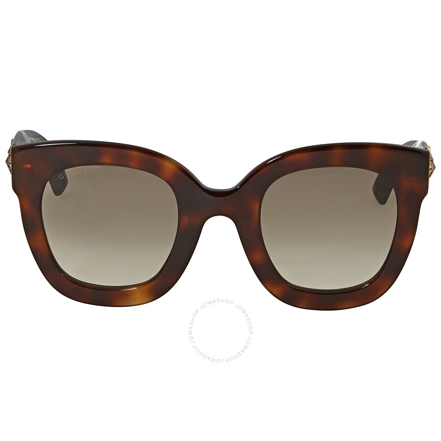1b24641be60 Gucci Brown Gradient Square Sunglasses GG0208S 003 Item No. GG0208S 003 49