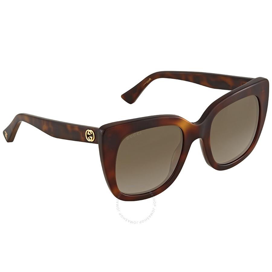 ab1bde382eb Gucci Brown Gradient Sunglasses GG0163S 002 51 - Gucci - Sunglasses ...