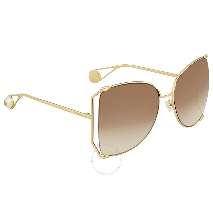 6b14bbbd4e4d Gucci Brown Gradient Sunglasses GG0252S-003 63 - Gucci - Sunglasses ...