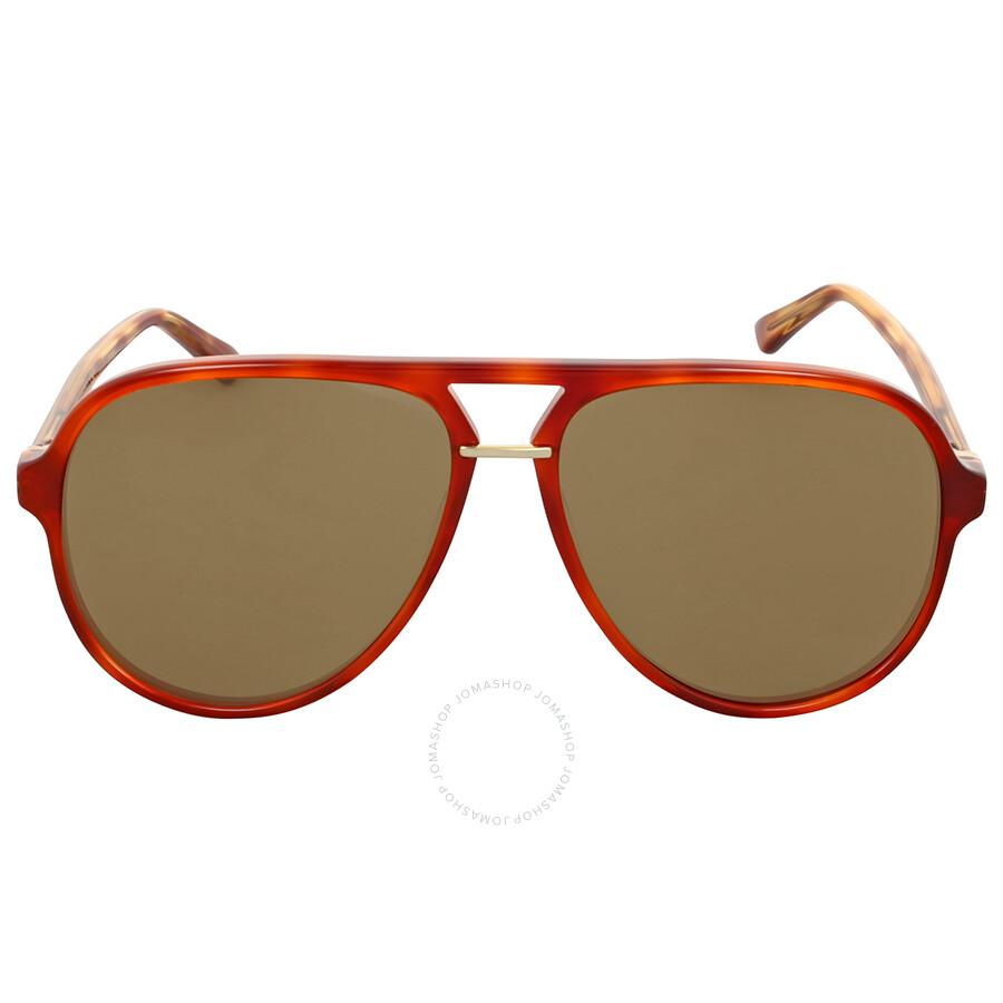 30824573ae Gucci Brown Havana Aviator Sunglasses Gucci Brown Havana Aviator Sunglasses  ...