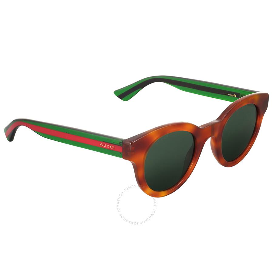 4faab033271 Gucci Brown Havana Round Sunglasses - Gucci - Sunglasses - Jomashop