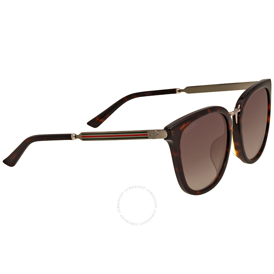 06842c31562 Gucci Brown Havana Square Sunglasses - Gucci - Sunglasses - Jomashop