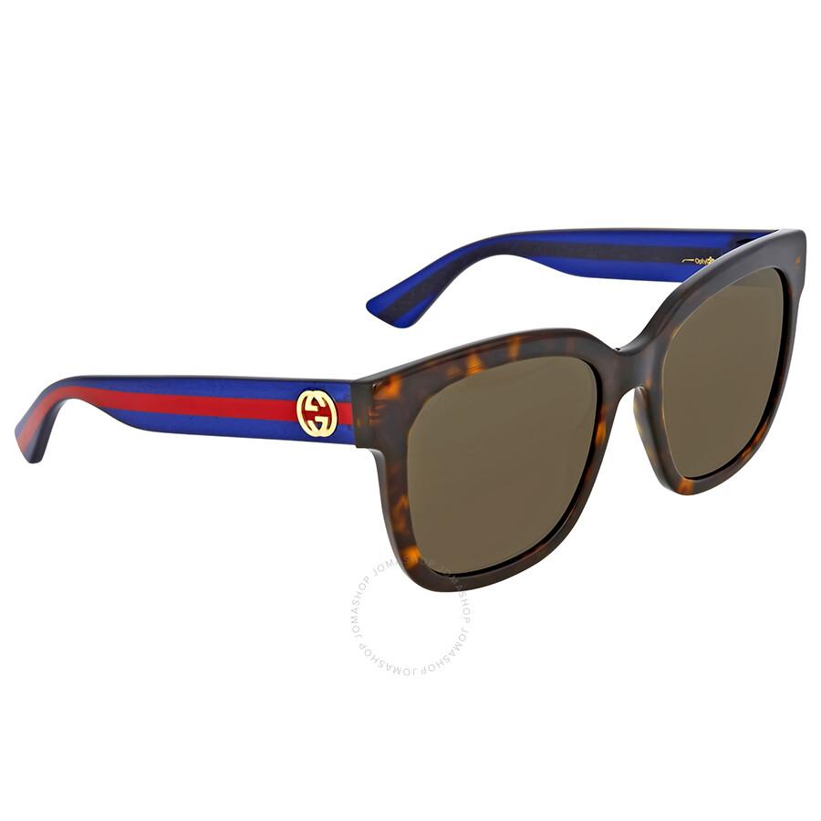 23ce51f3bff Gucci Brown Square Sunglasses - Gucci - Sunglasses - Jomashop