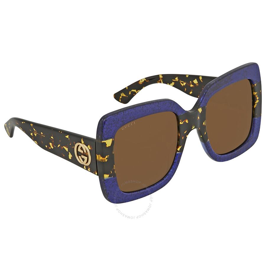 06ccec8830e Gucci Brown Square Sunglasses GG 0083S 003 55 - Gucci - Sunglasses ...