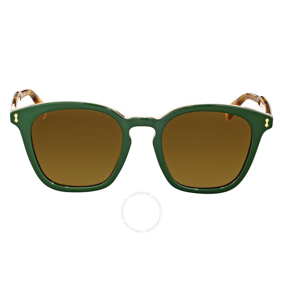 cc92aff6e1 Gucci Brown Square Sunglasses Gucci Brown Square Sunglasses ...