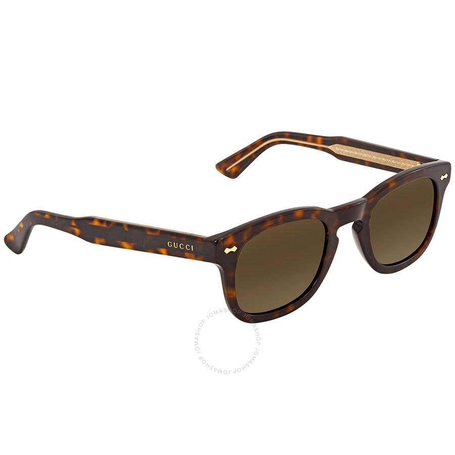 a7838550881 Gucci Brown Square Sunglasses GG0182S 003 49 - Gucci - Sunglasses ...