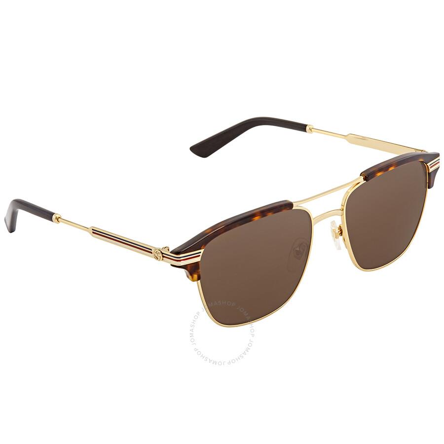 eac23c12a1 Gucci Brown Square Sunglasses GG0241S 003 54 - Gucci - Sunglasses ...