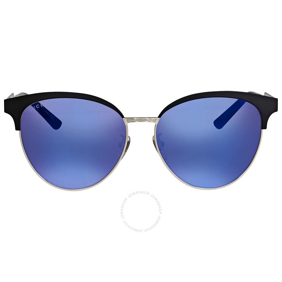 006ec531127 Gucci Cat Eye Blue Mirror Sunglasses - Gucci - Sunglasses - Jomashop