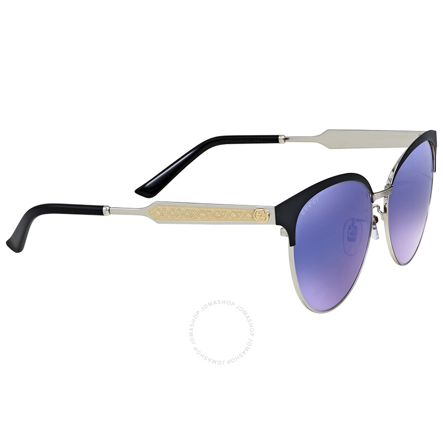 53958cc153c Gucci Cat Eye Blue Mirror Sunglasses Gucci Cat Eye Blue Mirror Sunglasses  ...