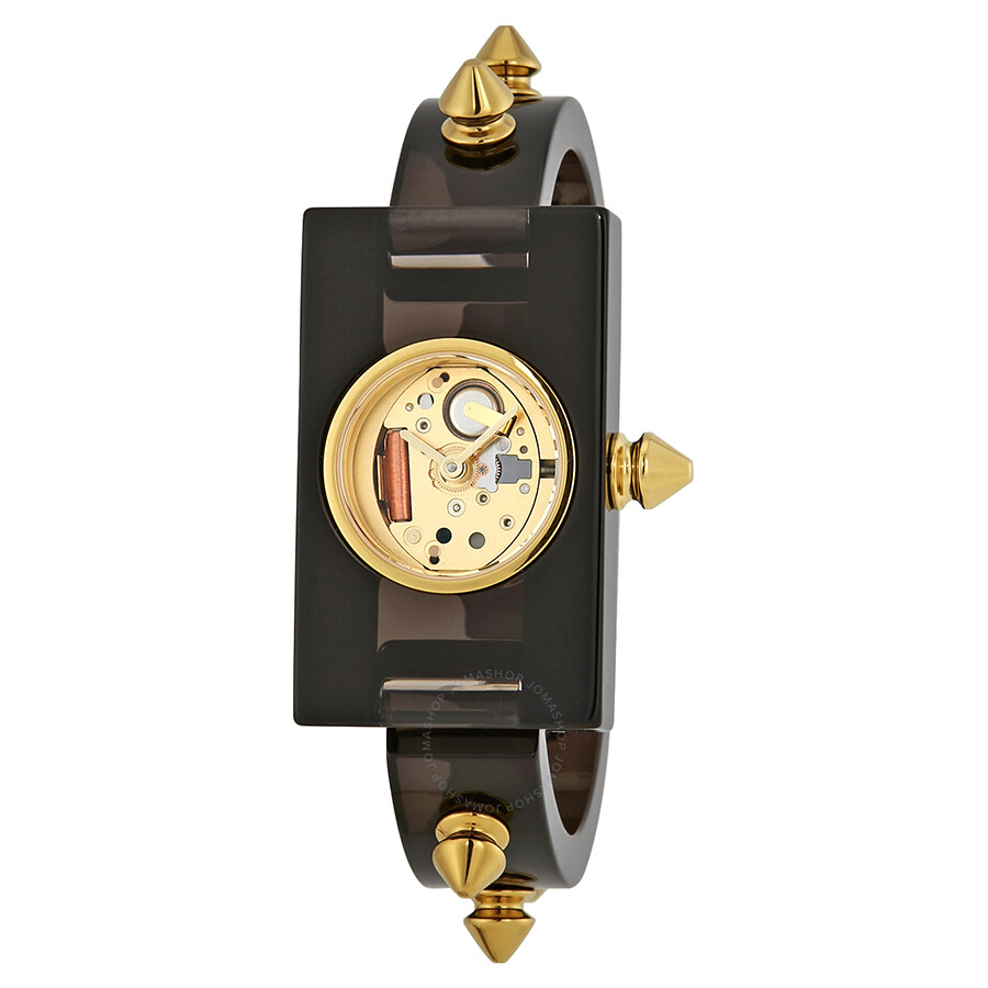 de9ceae1bae Gucci Champage Dial Ladies Studded Plexiglass Watch YA143509 - Gucci ...