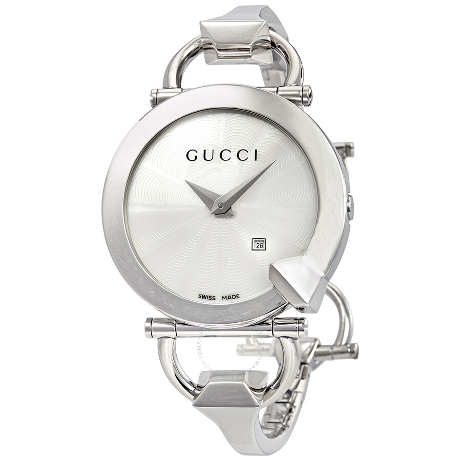 8295ee90950 Gucci Chiodo Silver Dial Ladies Watch YA122501 - Gucci - Watches ...